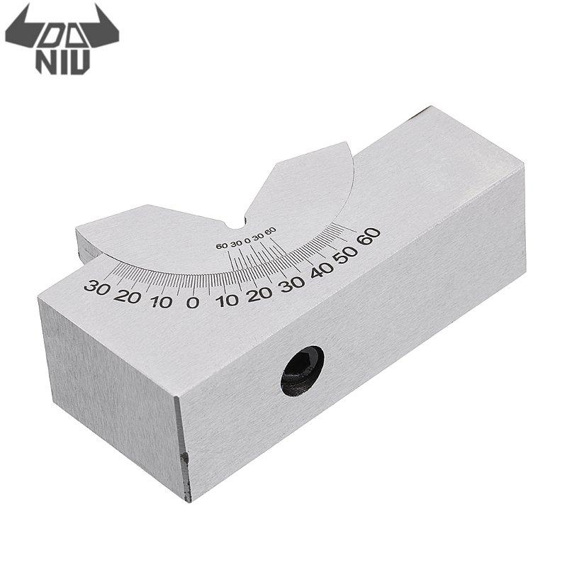 DANIU 1Pcs Adjustable Angle Gauge V-block Angle Grinder KP25 0-60 Degree Precision-Angle Plate Block for Measuring Tools