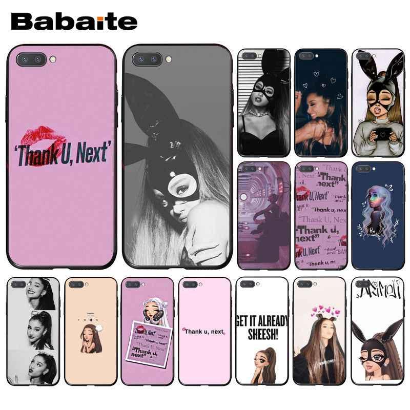 Babaite 感謝 U 次アリアナグランデ電話ケース Huawei 社の名誉 8 × 9 10 20 Lite 名誉 7A 7C honor10i View20