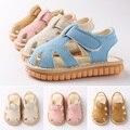 Обувь на мягкой подошве для маленьких мальчиков и девочек; Летние сандалии для малышей; Нескользящая обувь на мягкой подошве; SER88