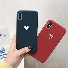 Love Heart Matte Soft Case For OPPO Reno