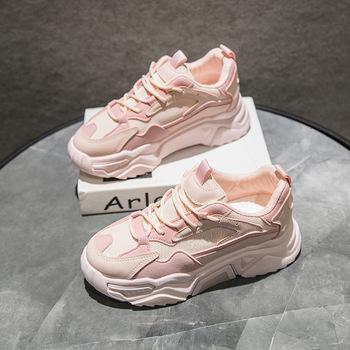 Damskie trampki 2020 wiosna nowe modne damskie buty platforma siatka powietrzna sportowe buty damskie różowe modne oddychające buty damskie tanie i dobre opinie HOPUS Mesh (air mesh) CN (pochodzenie) Płytkie Patchwork Wiosna jesień Med (3 cm-5 cm) Lace-up Pasuje mniejszy niż zwykle proszę sprawdzić ten sklep jest dobór informacji