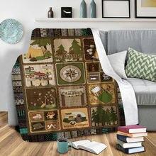 Плюшевое Флисовое одеяло с 3d принтом для взрослых дома и офиса