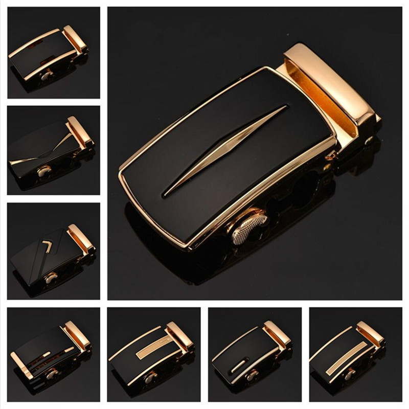 Fashion Men's Business Alloy Automatic Buckle Unique Men Plaque Belt Buckles For 3.5cm Ratchet Men Apparel Accessories Belts Gh2