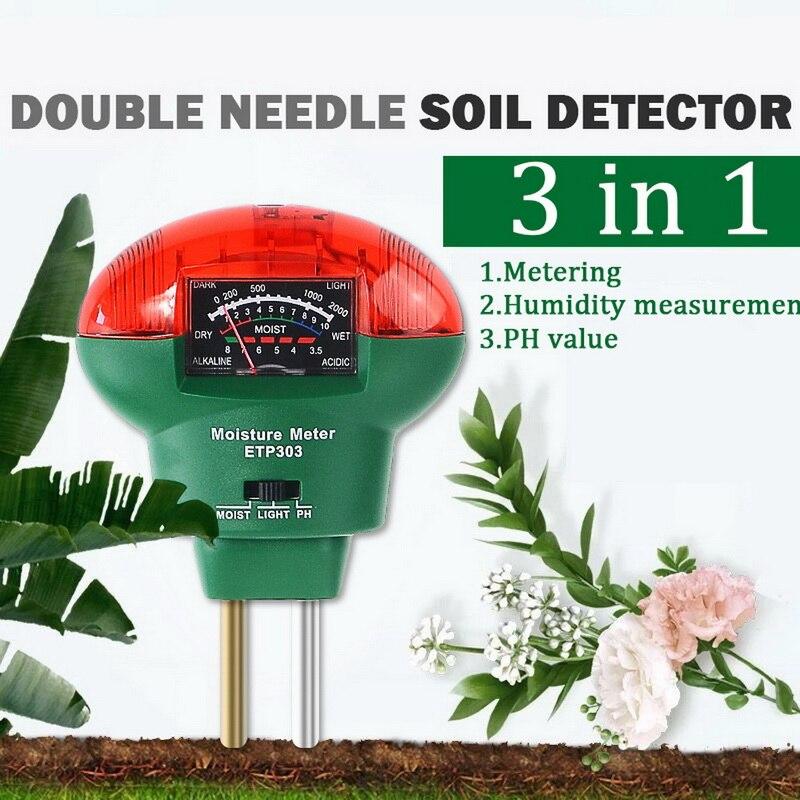 РН метр 3 в 1 влажности почвы/светильник/pH тестер садовый инструмент для ухода за растениями садовый фермы Крытый Применение|Измерители pH|   | АлиЭкспресс