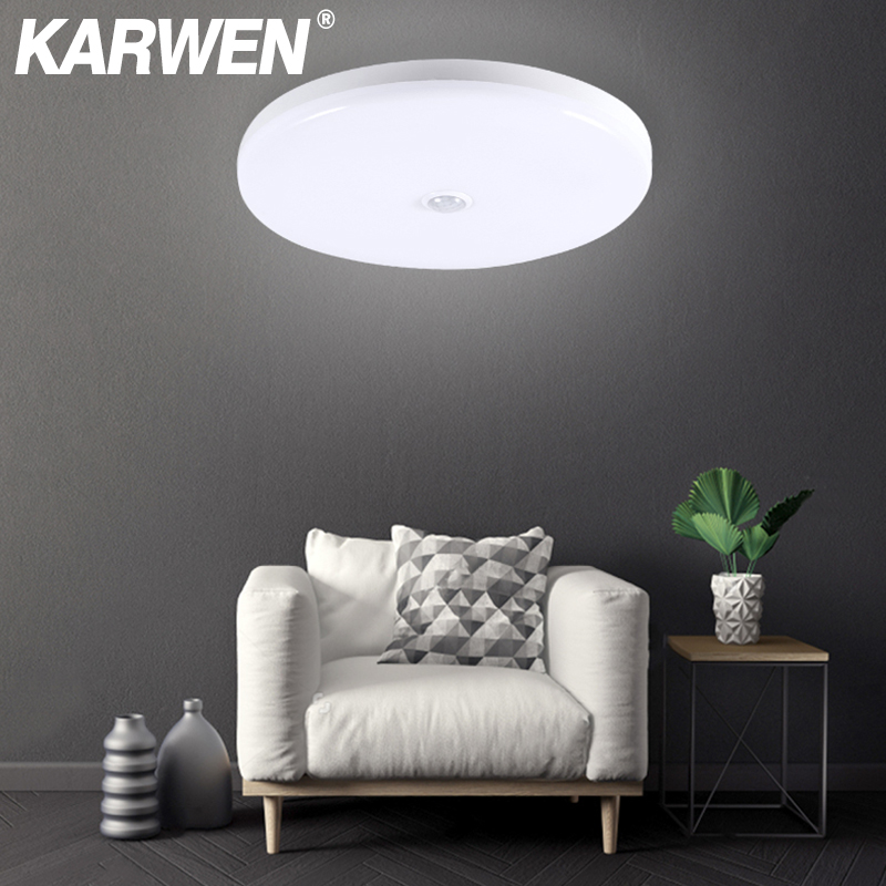 KARWEN PIR Motion Sensor Ceiling Light Sound Sensor Modern UFO Ceiling Lamp Surface Mount Lighting Fixture For Living Room