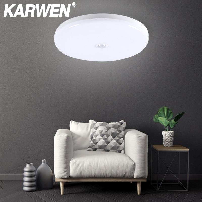 KARWEN PIR Motion Sensor Ceiling Light Sound Sensor Modern UFO Ceiling Lamp Surface Mount Lighting Fixture For Living Room