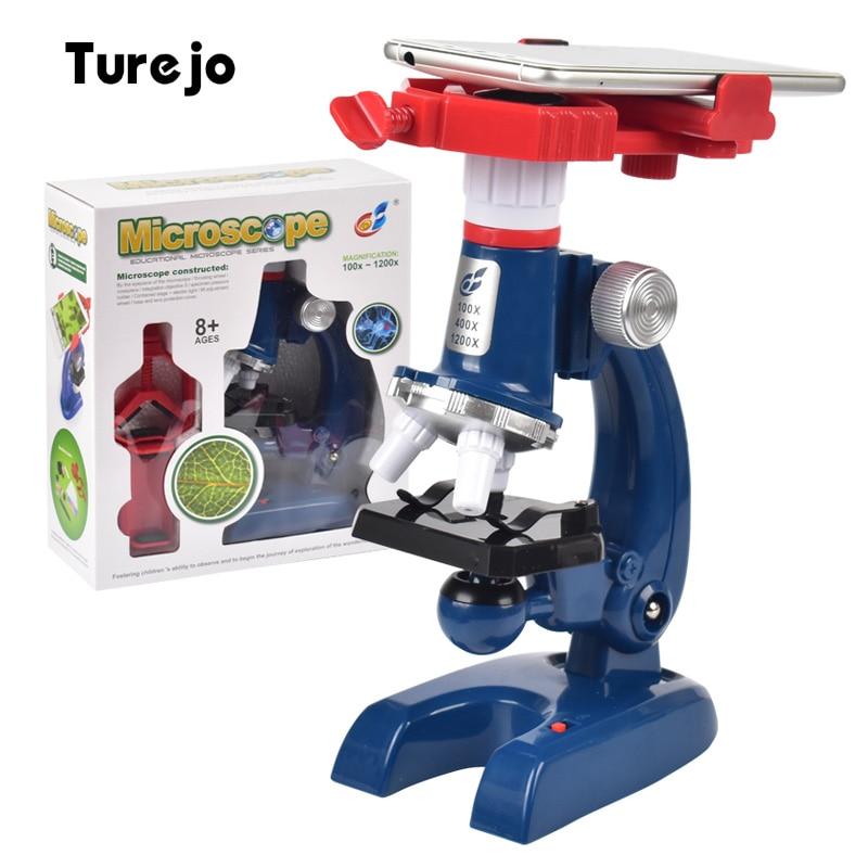 1200X набор монокулярных биологических микроскопов для студентов, Детские лабораторные оптические инструменты с держателем для телефона|Микроскопы|   | АлиЭкспресс