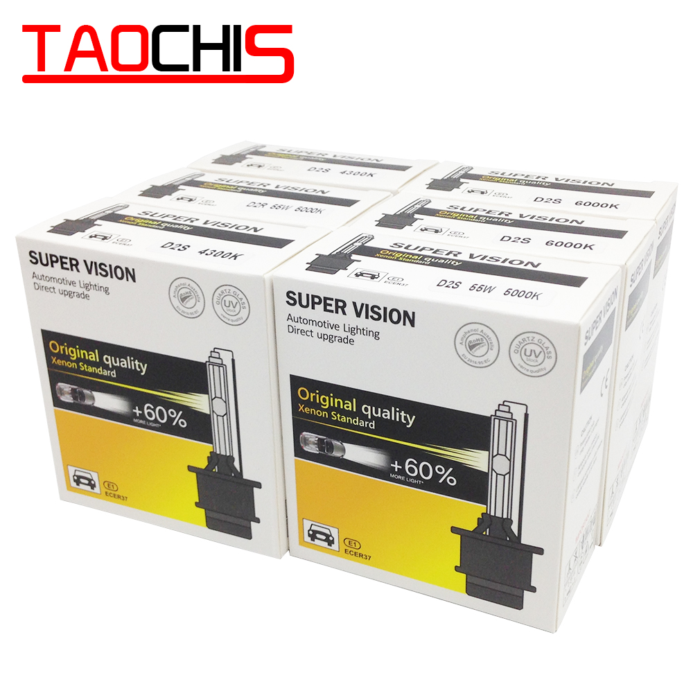 TAOCHIS AC 12V 35W D2S D2R HID Xenon Lamp D1S D1R Car Headlight D3S D3R Single Beam Auto Light  D4S D4R Replacement Bulbs