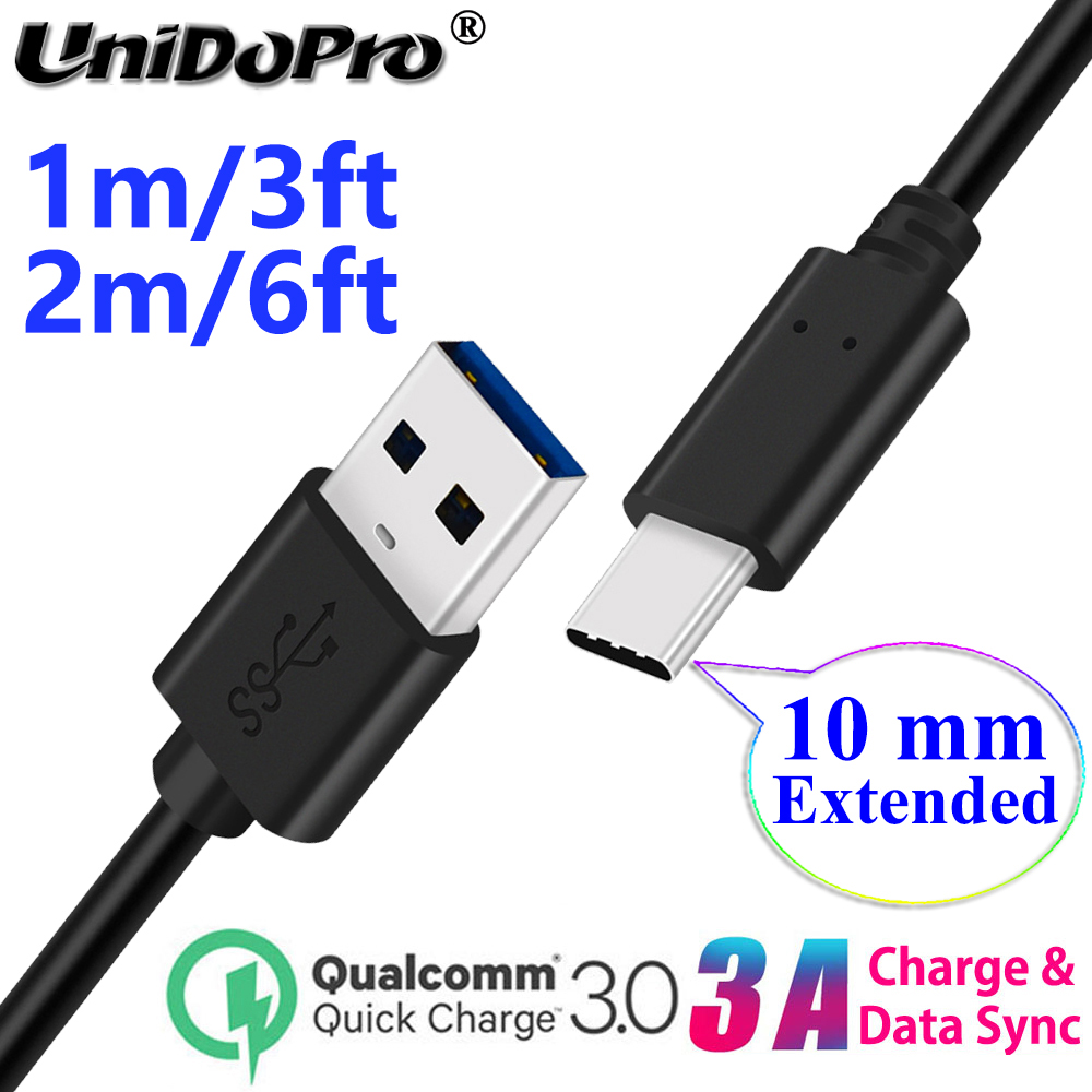 10mm Long USB-C Type C Extended Tip Fast Charger Cable for Ulefone Armor 9E 8 7E 7 6S 6E 6 5 3WT 3W 3T 3 2S Power 6 5S 3S(China)