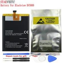 Bateria starveitu para blackview bv5800 5580mah bateria do li-íon de substituição do telefone móvel bateria bateria v685780p com ferramentas de reparo
