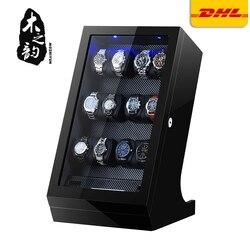 Automatyczna nakręcarka zegarków Uhrenbeweger mechaniczny wyświetlacz 12 + 2 gniazda zegarek męski automatyczny