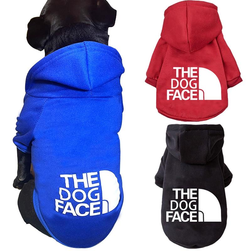 Модная одежда для собак, зимняя теплая толстовка с капюшоном для маленьких средних собак, куртка для домашних животных, куртка Ropa Perro, одежда...