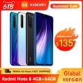 Глобальная версия Xiaomi Redmi Note 8 2021, 4 Гб RAM, 64 ГБ ROM, смартфон, четыре ядра, быстрой зарядки 4000 мА/ч, 48MP камера Note8