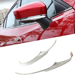 2pcs Exterior Decoration ABS Chrome Rearview Mirror Trim Car Rearview Mirror Stickers for Mazda 3 M3 Axela 2017 2018