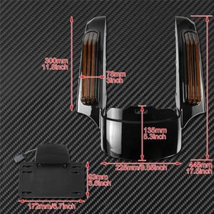 Image 5 - אופנוע LED אור אחורי סיומת פגוש Fascia סט להארלי סיור אלקטרה כביש Glide 2014 עד FLTRXS Ultra מוגבל FLHX