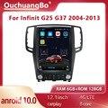 Ouchuangbo мультимедийный автомобильный радиоприемник Android 10 Тесла стиль для 12,1 дюймов Infiniti G25 G37 2004-2013 GPS-навигация 128 ГБ