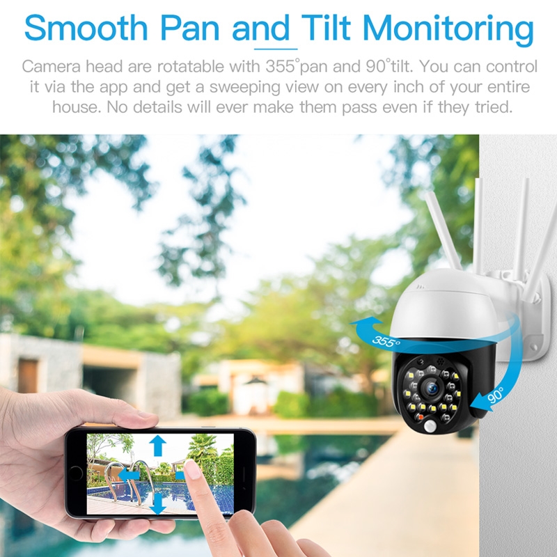 FREDI Wasserdichte Outdoor Ip-kamera 1080P Speed Dome Überwachungs Kameras Nachtsicht Drahtlose WiFi Sicherheit CCTV Kamera YCC365