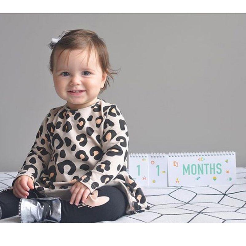 Baby Monthly Newborn Photos Funny Milestone Flip Book Photography Photo Album X5XE