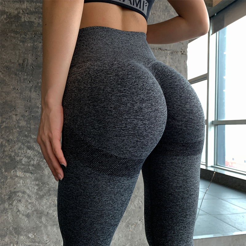 LANTECH Women Gym Yoga Seamless Pants Sports Clothes Stretchy High Waist Athletic Exercise Fitness Leggings Activewear Pants