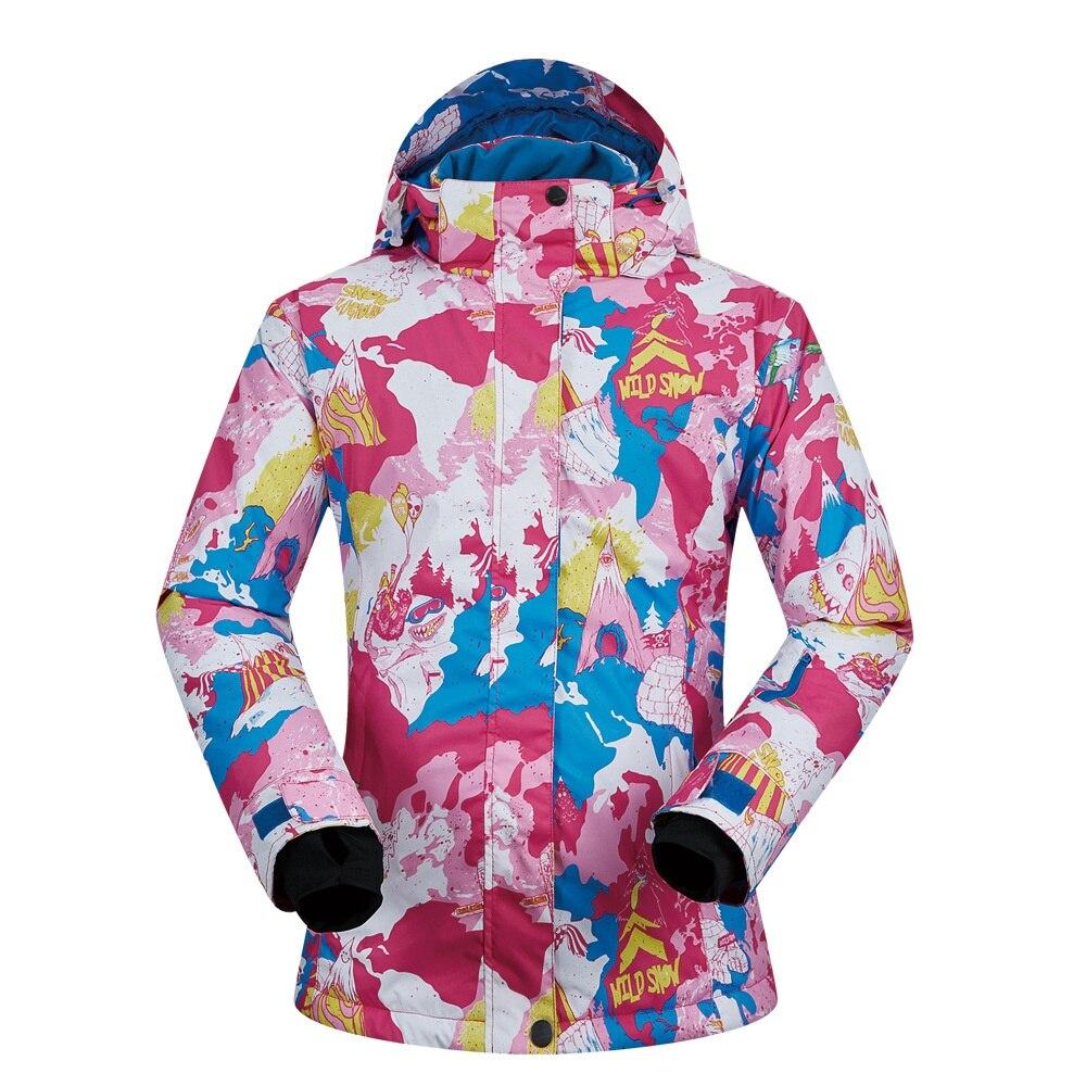 MUTUSNOW Women's Ski Jacket Fashion Waterproof Windproof Outdoor Coat Snowboard Mountain Rain Jacket