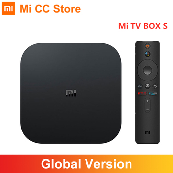 Version mondiale Xiaomi Mi TV Box S 4K Ultra HD Android TV 9.0 HDR 2 go 8 go WiFi Google Cast Netflix Smart TV Mi Box 4 lecteur multimédia