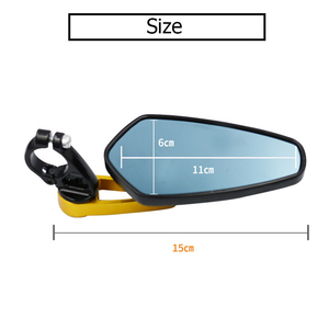 "Image 5 - 2Pcs Motorcycle Aluminum 7/8"" 22mm Bar End Side Rearview Mirror Universal Motorbike Bike Handlebar Rear View Mirrors Universal"