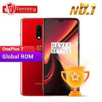 Globale Rom OnePlus 7 8GB RAM 256GB ROM Smartphone Snapdragon 855 6,41 Zoll Optic AMOLED Display Fingerprint 48MP kameras UFS 3,0
