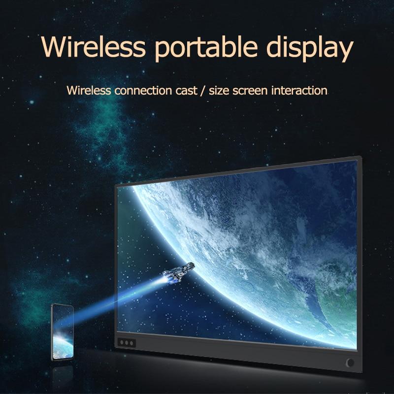 15,6 дюймов Wifi портативный монитор с батареей 1080P ips HD беспроводной дисплей для ноутбука телефона xbox PS3 PS4 Мини ПК CCTV рекордер