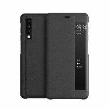 Huawei Case window bracket smart leather case