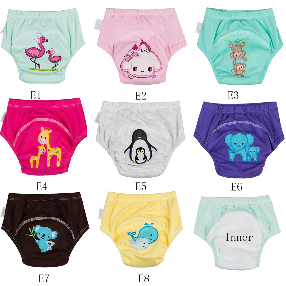 11/11 Promotion Waterproof Baby Training Pants [ 10pcs A Pack ] Embroidery Models Baby Diapers New Wears Training Underwear 0-3
