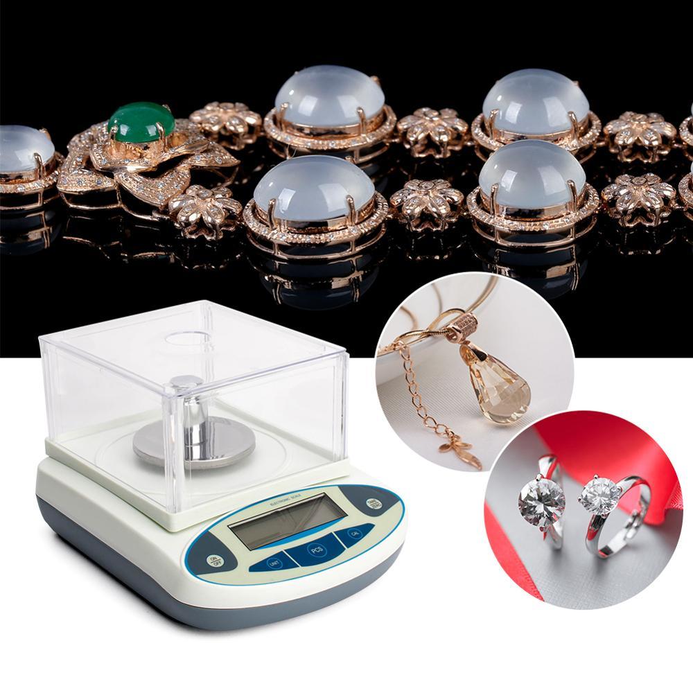 300g/0.001g laboratoire scientifique de haute précision laboratoire de Balance électronique analytique numérique pèse des balances de bijoux de laboratoire - 6