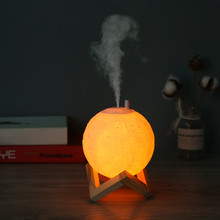Air Humidifier 3D Moon LED Lamp Light Diffuser Aroma Essential Oil Diffuser USB Ultrasonic Humidifier Cool Mist Air Purifier
