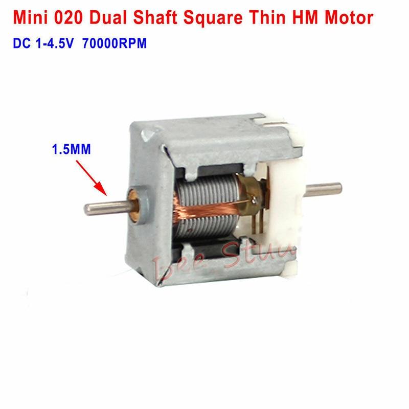 DC6V~12V 7000RPM 2.3mm Dual Shaft Mini RS-360 Electric Motor DIY Hobby Toy Model