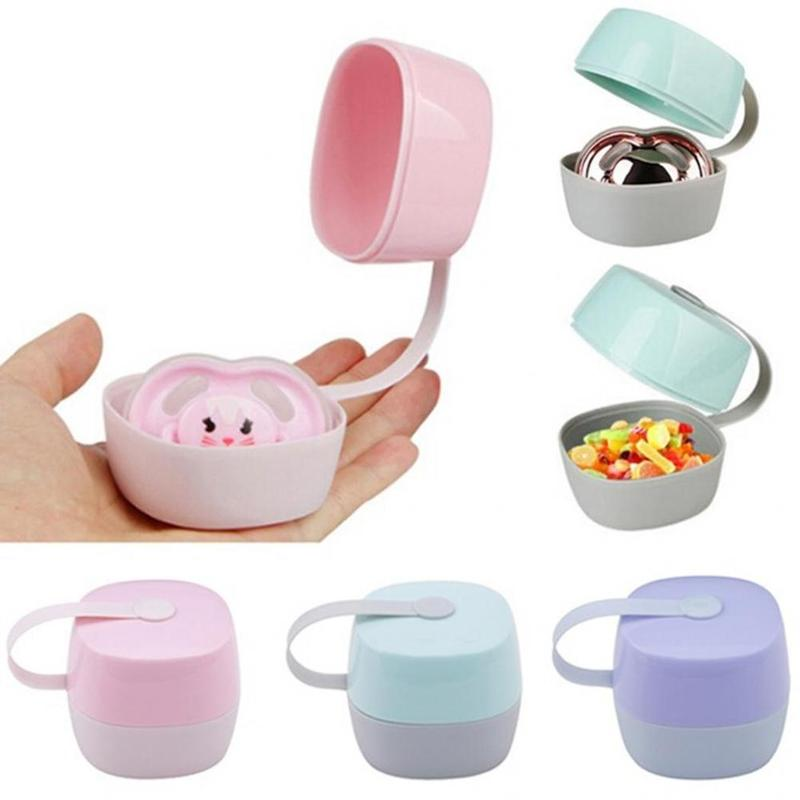 Portable Baby Infant Pacifier Nipple Box Deciduous Teeth Cradle Case Holder Travel Storage Box Eco-friendly Baby Care Box