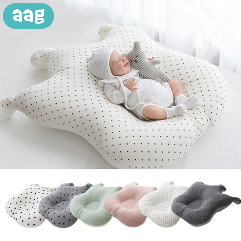 AAG Cotton Crown Dots Babynest Bed Mesh Newborns Cradle Cot Anti-spit Milk Baby Nest Crib Infant Sleeping Support Pad Cushion
