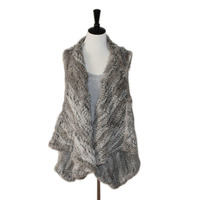 2019 New Quality New Fashion Real Knitted Rabbit Fur Vest, Real Fur Vest, Genuine Rabbit Fur Waistcoat Rabbit Fur Gilet Hot Sale