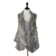 2019 New Quality New Fashion Real Knitted Rabbit Fur Vest,