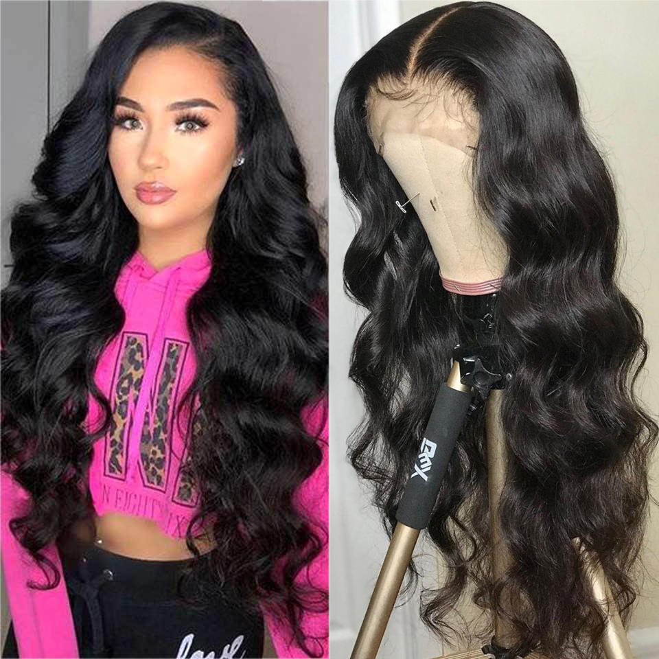 180 Density 13X4 Transparent Lace Front Human Hair Wigs Invisible Undetectable Brazilian Body Wave Lace Frontal Wigs For Women
