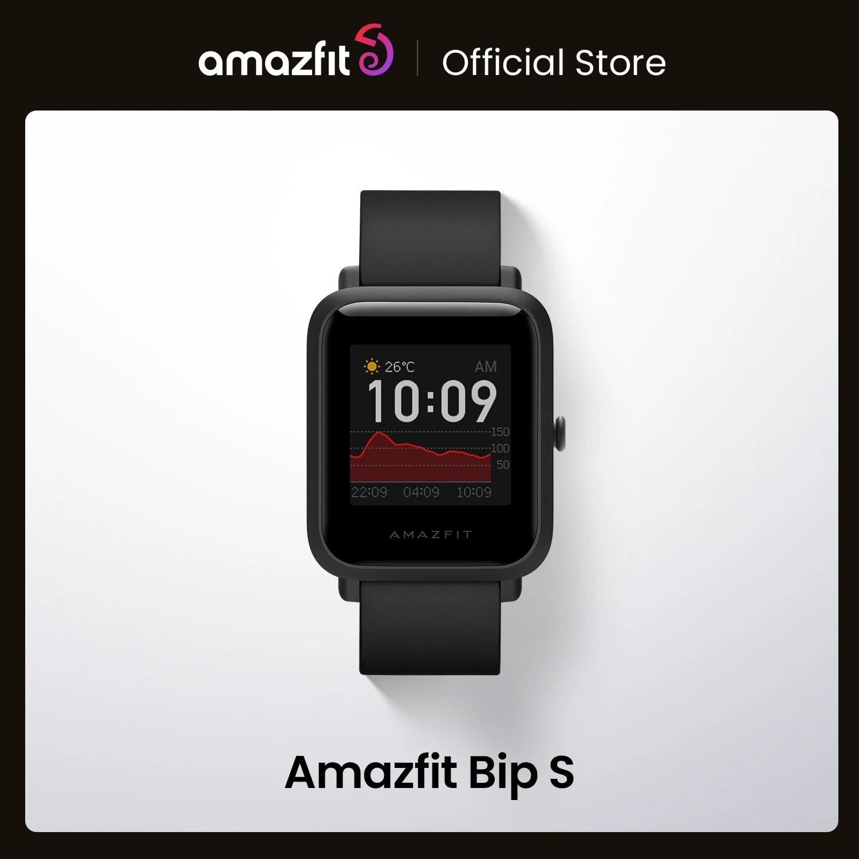 In Stock 2020 Global Amazfit Bip S Smartwatch 5ATM waterproof built in GPS GLONASS Smart Watch for Android iOS Phone