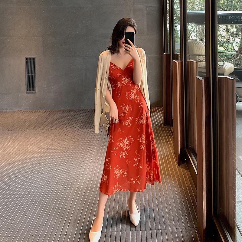 Femmes robe d'été imprimé Floral plage robe rouge mode Boho robes d'été dames Vintage robe de soirée robes de haute qualité