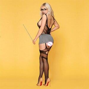 Image 3 - סקסי תלבושות נשים סקסי הלבשה תחתונה בגד גוף פורנו Babydoll המפשעה פתוח חזייה פתוח מפשעת בגד גוף חם ארוטית סקס תחתונים