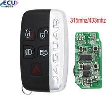 315 mhz/433 mhz smart remoto chave fob 5 botões para jaguar xf xj xl xk xe 2013-2017 id49 chip fcc: kobjtf10a