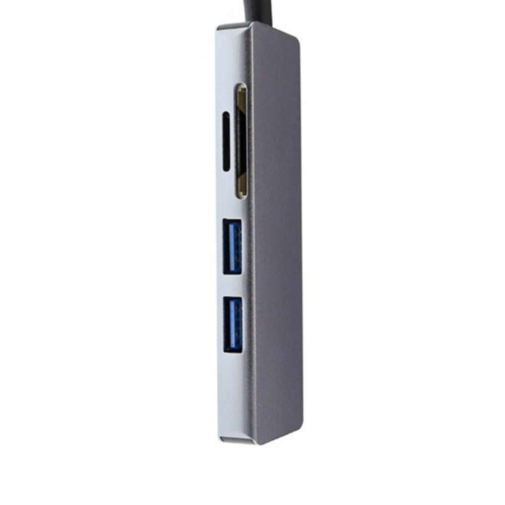 Thunderbolt 3 Hub Usbc Dock USB Tipe C untuk HDMI USB3.0 Kabel TF Kartu SD 5IN1 Adaptor Splitter untuk Macbook PRO 2017 Dell XPS 13