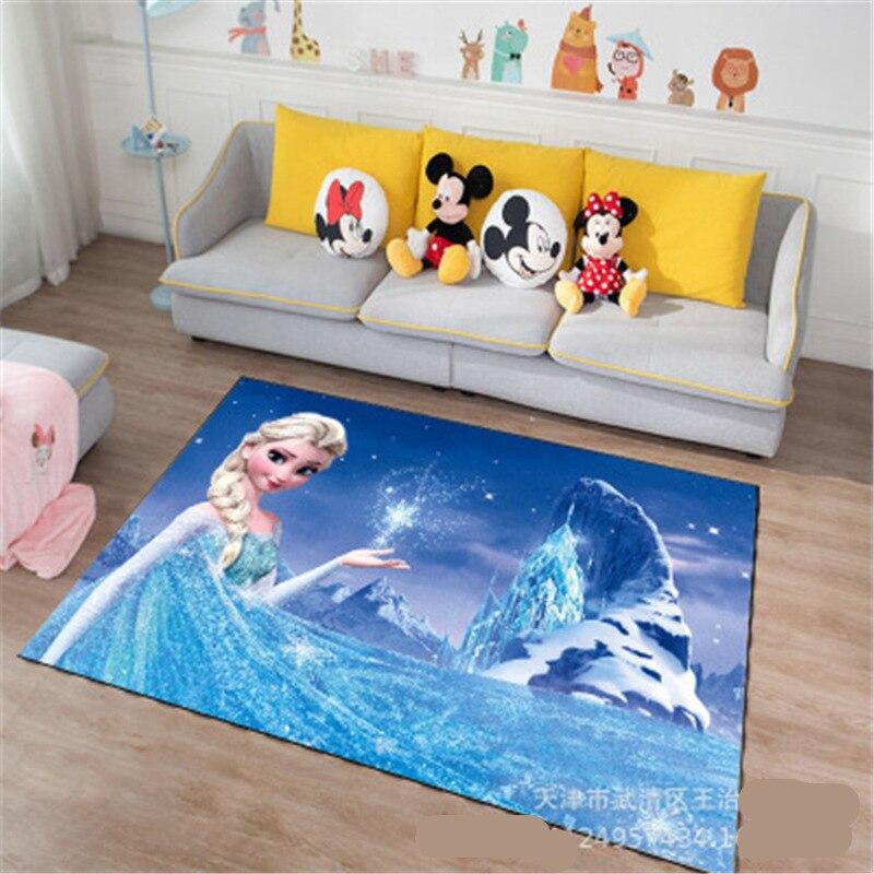 Cartoon Frozen Anna Elsa Door Mat Kids Boys Girls Game Mat Mickey and Minnie Mouse Bedroom Kitchen Carpet Indoor Bathroom Mat