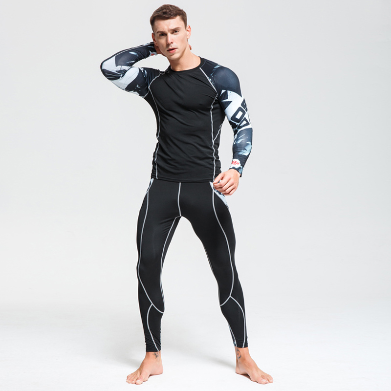 New Arrival Basketball Jogging Clothing Sets Men Sportswear Running Sports Running Gym Tights Running Training Workout Clothing