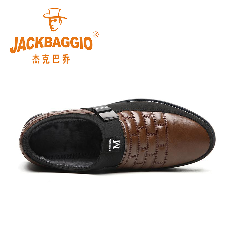 Leather Men Shoes Fashion Autumn And Winter Casual Slip On Formal Business Wedding Dress Shoes Drop Shipping