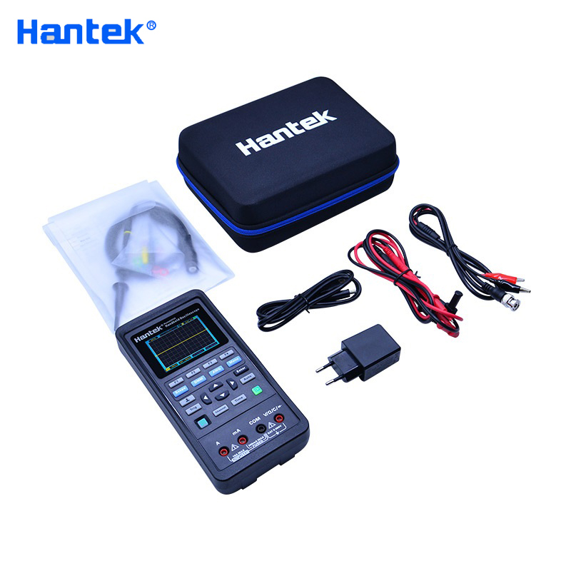 <font><b>Hantek</b></font> 3in1 Digital <font><b>Oscilloscope</b></font>+Waveform Generator+Multimeter Portable USB 2 Channels <font><b>40mhz</b></font> 70mhz LCD Display Test Meter Tools image