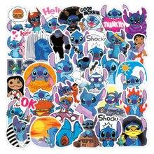 50PCS Kawaii Stitch Cartoon Stickers DIY Fridge Skateboard Guitar Laptop Waterproof Graffiti Sticker Classci Toy for Kid Gift