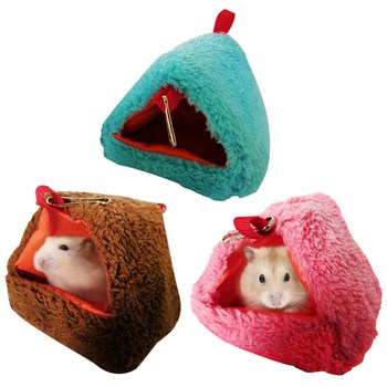 Small Pet Hammock Parrot Hanging Swing Nest Cage Small Animal Hanging Hole Warm Cotton Cotton Nest Boat Pink