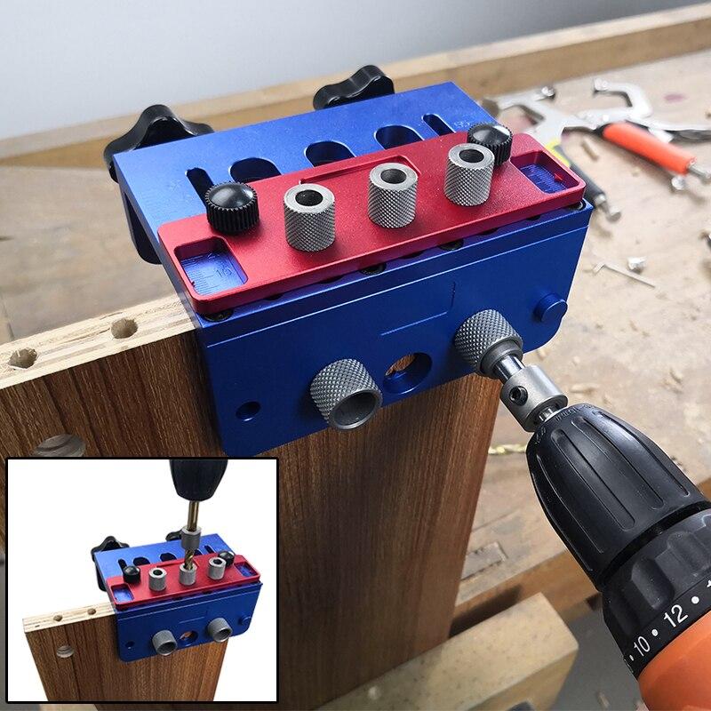 FNICEL 3 в 1 деревообрабатывающий перфоратор локатор Высокоточный кувшин с метрическими дюбельными отверстиями деревообрабатывающий Столярный станок Наборы ручных инструментов      АлиЭкспресс